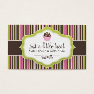 Cartões de visitas da bola do bolo
