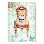 Cartões de visitas da cadeira do Victorian do cupc