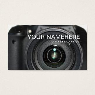 Cartões de visitas da câmera