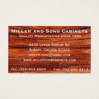 Cartões de visitas da carpintaria do Woodworking