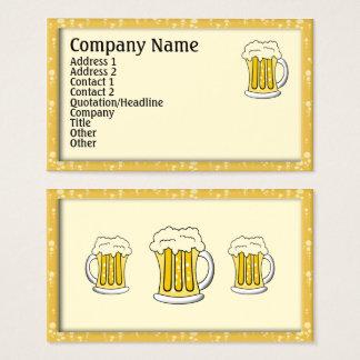 Cartões de visitas da cerveja