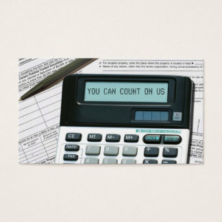 Cartões de visitas da contabilidade