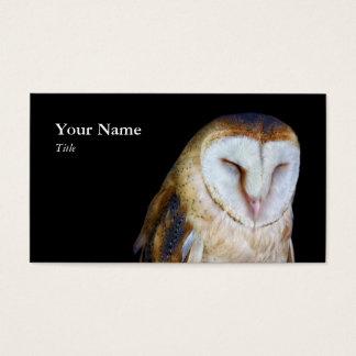 Cartões de visitas da coruja de celeiro