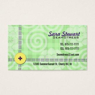 Cartões de visitas da costureira