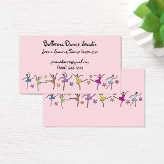 Cartões de visitas da dança da bailarina