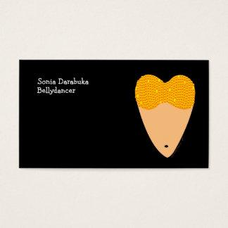 Cartões de visitas da dança do ventre do torso de