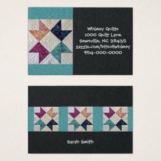Cartões de visitas da edredão do Batik