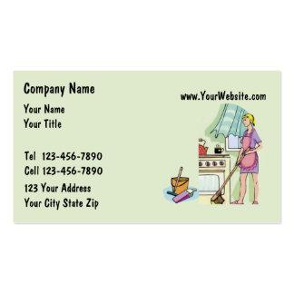 Cartões de visitas da empregada doméstica