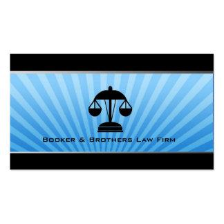 Cartões de visitas da empresa de advocacia