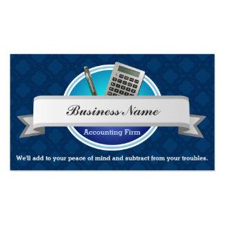 Cartões de visitas da empresa de contabilidade