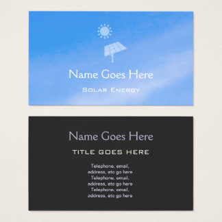 """Cartões de visitas da energia solar do """"céu"""""""