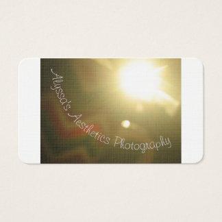 Cartões de visitas da estética de Alyssa