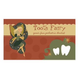 Cartões de visitas da fada de dente