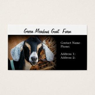 Cartões de visitas da fazenda da cabra