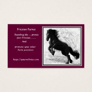 Cartões de visitas da fazenda do frisão