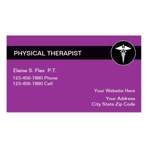 Cartões de visitas da fisioterapia