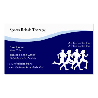 Cartões de visitas da fisioterapia dos esportes