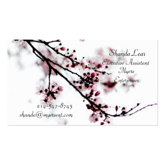 Cartões de visitas da flor de cerejeira
