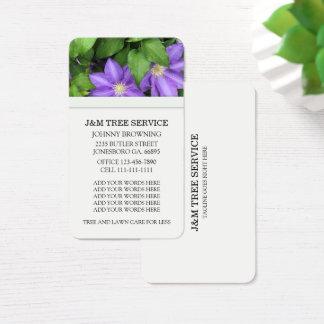Cartões de visitas da flor do Clematis