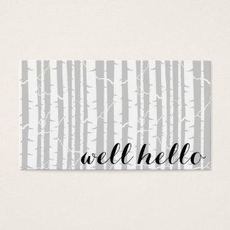 Cartões de visitas da floresta do vidoeiro com