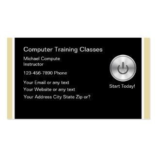 Cartões de visitas da formação informática