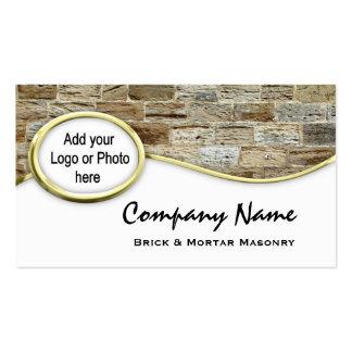 Cartões de visitas da foto do logotipo da alvenari