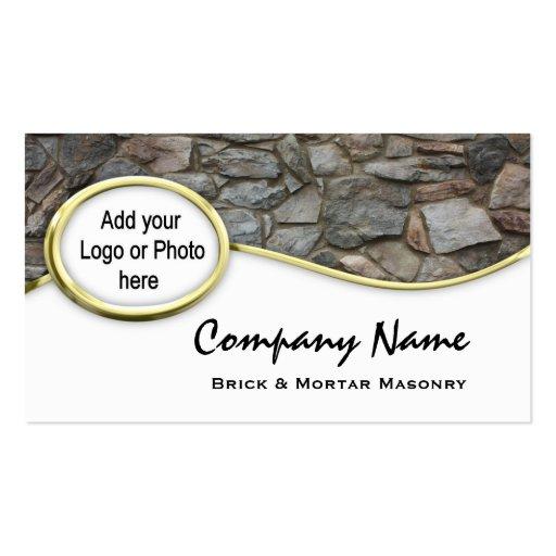 Cartões de visitas da foto do logotipo da rocha da
