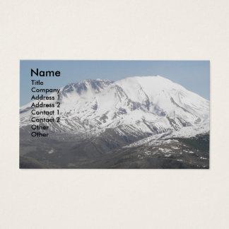 Cartões de visitas da foto do vulcão de Mount