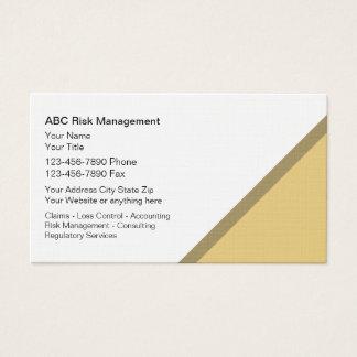 Cartões de visitas da gestão de riscos