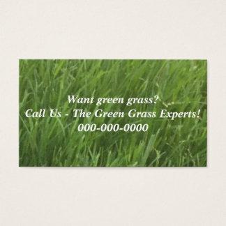 Cartões de visitas da grama verde