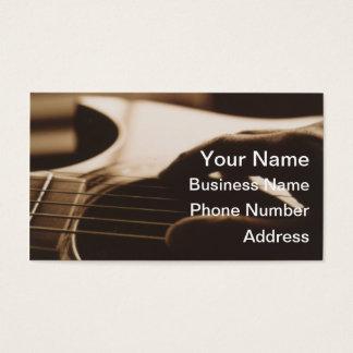 Cartões de visitas da guitarra