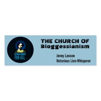 Cartões de visitas da igreja.  Personalize