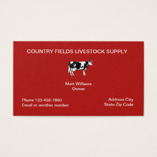 Cartões de visitas da indústria dos rebanhos