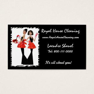 Cartões de visitas da limpeza da casa
