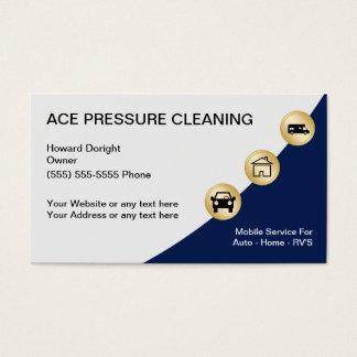 Cartões de visitas da limpeza da pressão