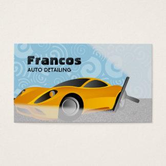 Cartões de visitas da limpeza do carro