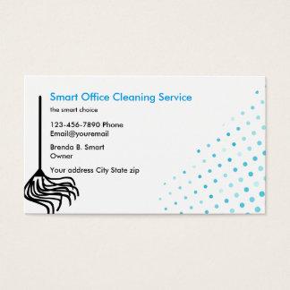 Cartões de visitas da limpeza do escritório