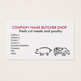 Cartões de visitas da loja de carniceiro