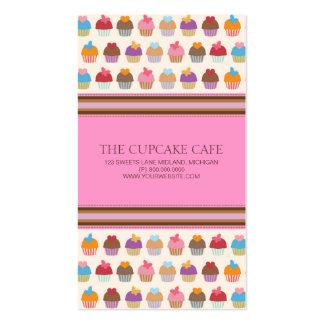 Cartões de visitas da loja ou da padaria do cupcak