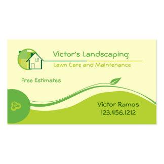 Cartões de visitas da manutenção do gramado