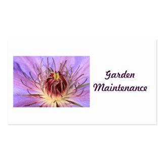 Cartões de visitas da manutenção do jardim