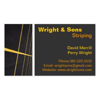 Cartões de visitas da manutenção do Striping do pa