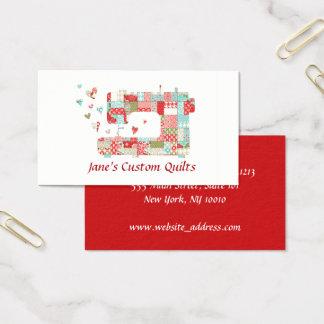 Cartões de visitas da máquina de costura de