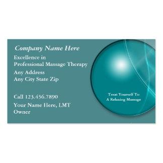 Cartões de visitas da massagem