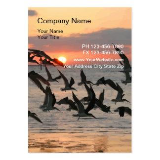 Cartões de visitas da natureza da praia