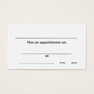 """Cartões de visitas da """"nomeação"""""""