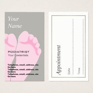 Cartões de visitas da nomeação do pedicuro do