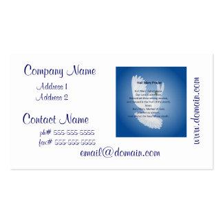Cartões de visitas da oração de Mary da saraiva