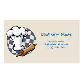 Cartões de visitas da padaria