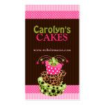 Cartões de visitas da padaria do bolo